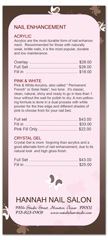 BRS-1001 - salon brochure pricelist