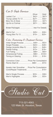 BRS-1005 - salon brochure pricelist