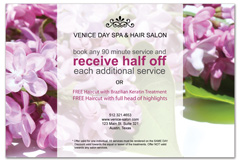 PCS-1005 - salon postcard flyer