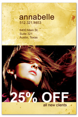 PCS-1034 - salon postcard flyer