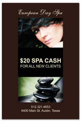 PCS-1037 - salon postcard flyer
