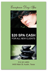 PCS-1038 - salon postcard flyer