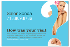 PCS-1058 - salon postcard flyer