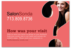 PCS-1059 - salon postcard flyer