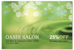 PCS-1063 - salon postcard flyer