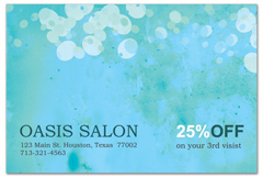 PCS-1065 - salon postcard flyer
