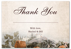 WIR-1010 - wedding thank you and response card