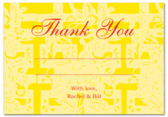 WIR-1022 - wedding thank you and response card