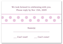 WIR-1030 - wedding thank you and response card