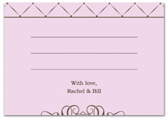 WIR-1059 - wedding thank you and response card