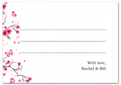 WIR-1065 - wedding thank you and response card
