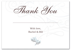 WIR-1073 - wedding thank you and response card