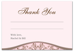 WIR-1079 - wedding thank you and response card