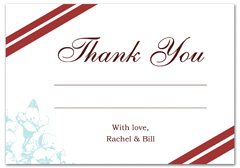 WIR-1097 - wedding thank you and response card