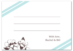 WIR-1098 - wedding thank you and response card