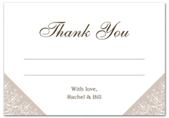 WIR-1103 - wedding thank you and response card