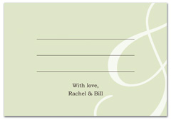 WIR-1110 - wedding thank you and response card