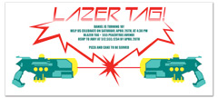 Laser Tag Party Event Birthday Party Invitations