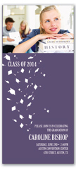 2020 Photo Cap Gown Flying Graduation Invite