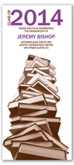 Stack Of Books Graduation Party Invitation