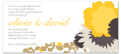 Sunflower Blooming Design Microsoft Wedding Invite