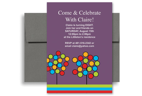 Create Your Own Microsoft Word Birthday Invitation 5x7 In Vertical