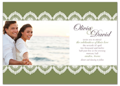 Personalized Photo Microsoft Word Wedding Invitation