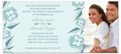 Baby Blue Template Wedding Invitation Design