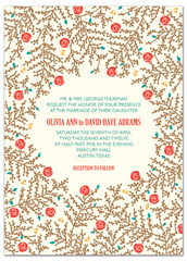 Red Roses Garden Wedding Invitation Design