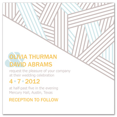 White Brown Unique Patterns Wedding Invitation Ideas