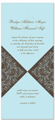 Blue White Long Vertical Wedding Invitation Templates